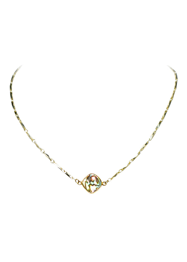 ANYA CELESTE NECKLACE ABALONE SHELL