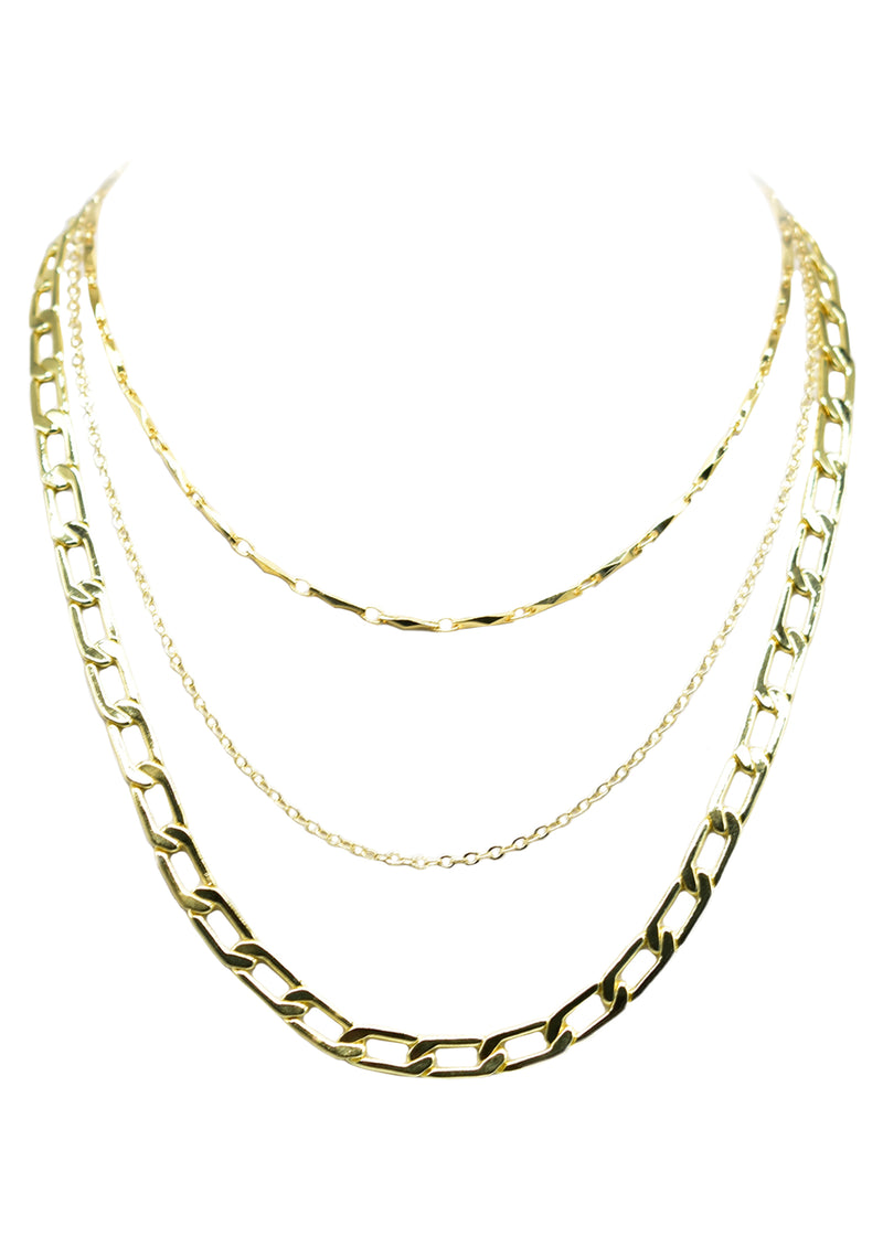 ANYA CABLE JASPER TIER NECKLACE (FRESH)