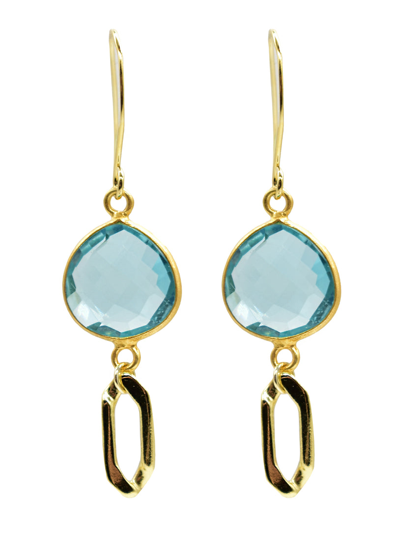 Evolve Cecelia Jasper Earring Aquamarine (Fresh)