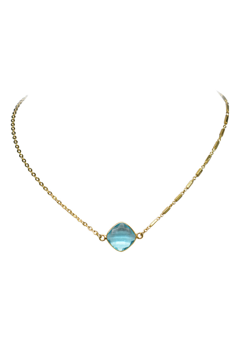 MARTIA MIX CELESTE NECKLACE AQUAMARINE (SOLD OUT RN)