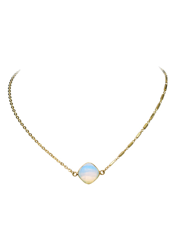 MARTIA MIX CELESTE NECKLACE WHITE OPAL (SOLD OUT RN)