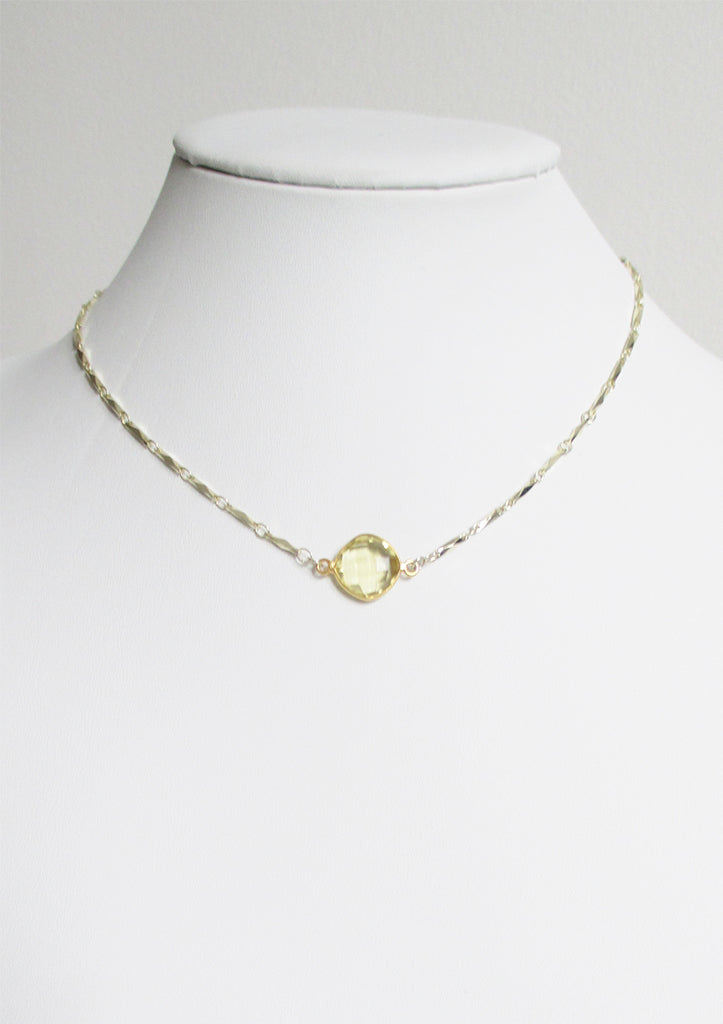 ANYA CELESTE NECKLACE CITRINE LEMON