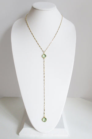 MG ANYA CELESTE Y NECKLACE GREEN AMETHYST