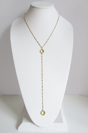 MG ANYA CELESTE Y NECKLACE CITRINE LEMON