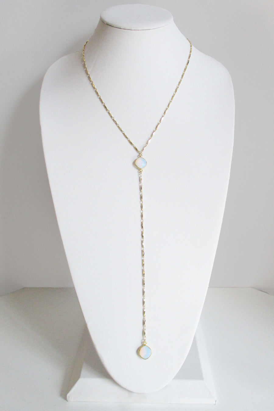 MG ANYA CELESTE Y NECKLACE WHITE OPAL