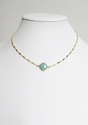 ARIANNA CELESTE NECKLACE AMAZONITE