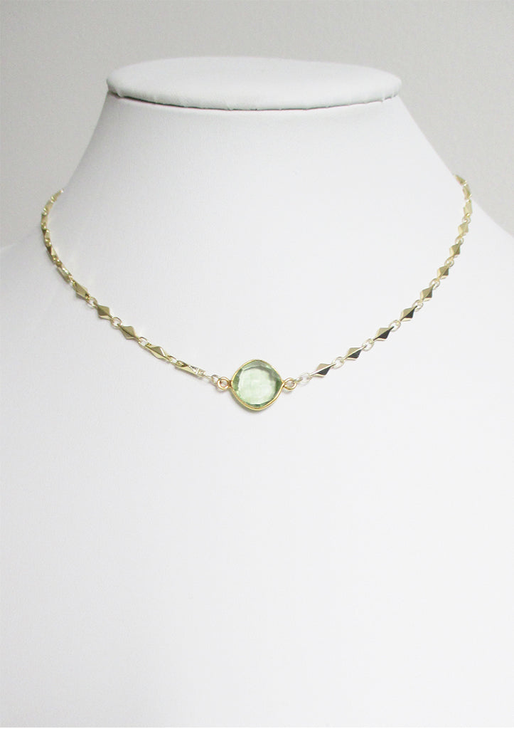 ARIANNA CELESTE NECKLACE GREEN AMETHYST