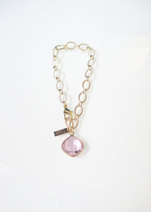 SAMPLE SALE CLASSIC CABLE CELESTE BRACELET ROSE PINK