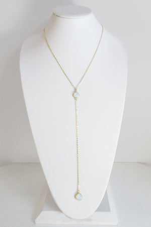 CECELIA Y NECKLACE WHITE OPAL
