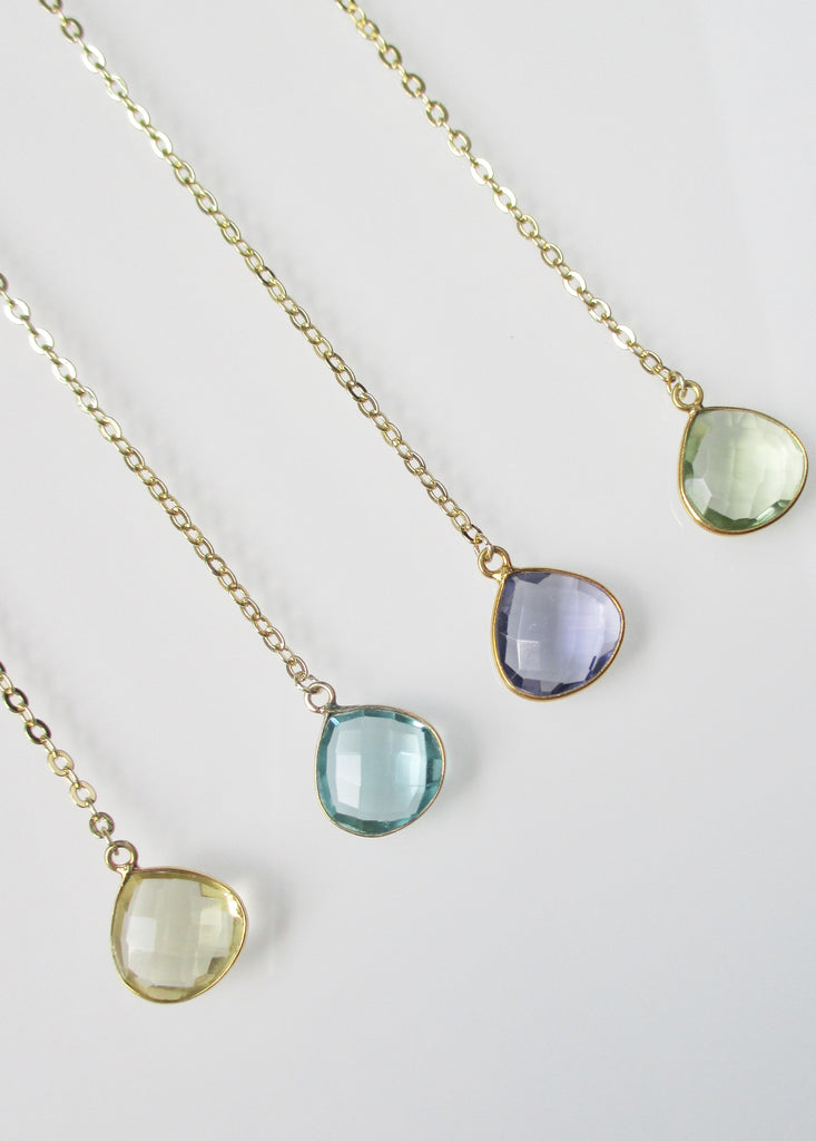 CECELIA MONTANA Y NECKLACE CLEAR AMETHYST (SOLD OUT)