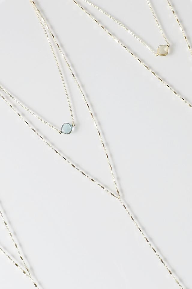 CELESTE KARA Y NECKLACE AQUAMARINE