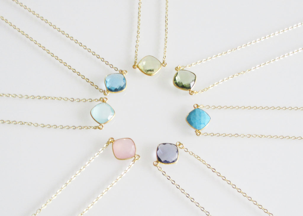 CELESTE SOLO NECKLACE BLUE TOPAZ