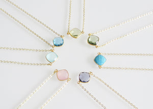 CELESTE SOLO NECKLACE AQUAMARINE