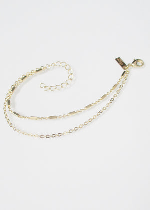 SAMPLE SALE KARA CABLE TIERED BRACELET