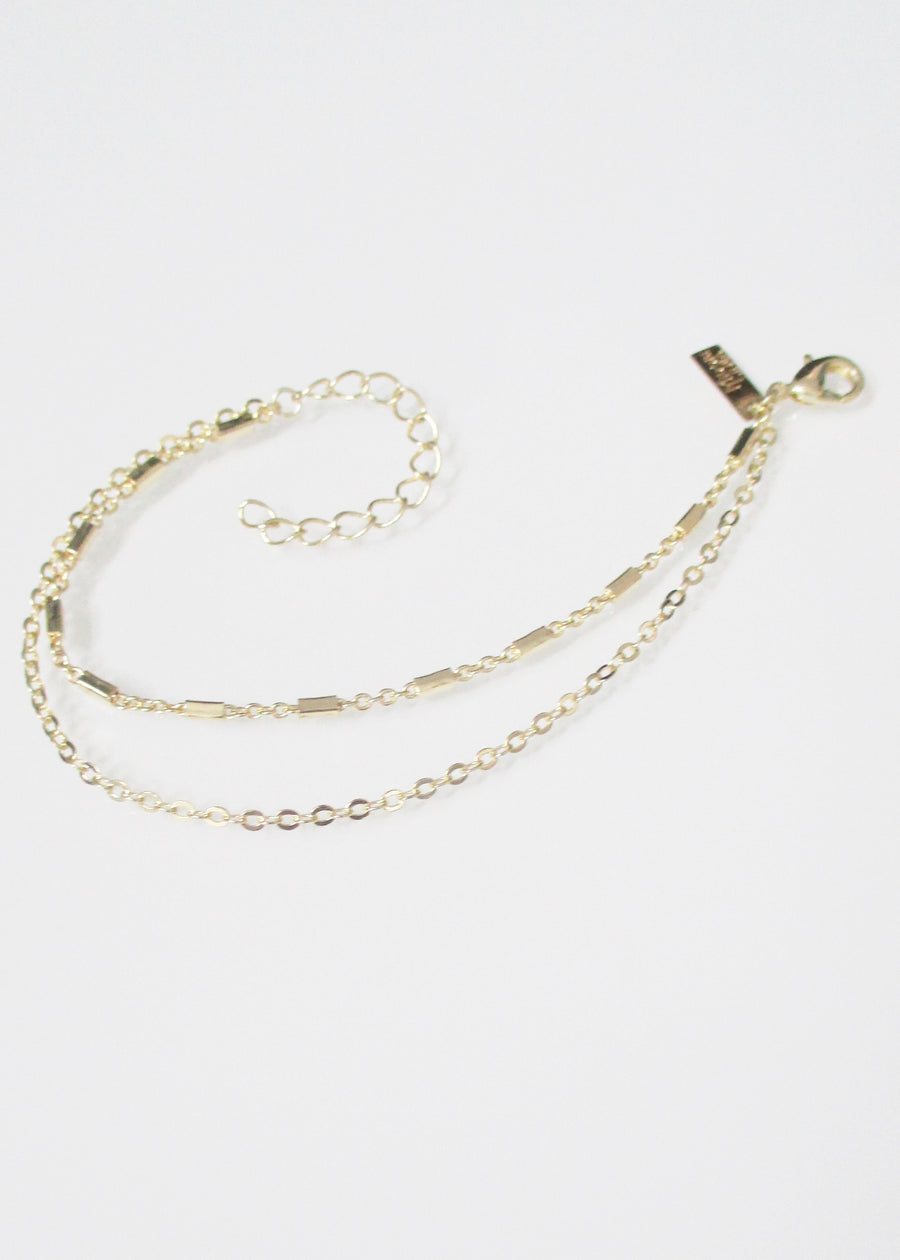 KARA CABLE TIERED ANKLET