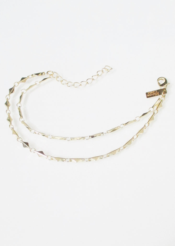 ANYA ARIANNA TIERED ANKLET