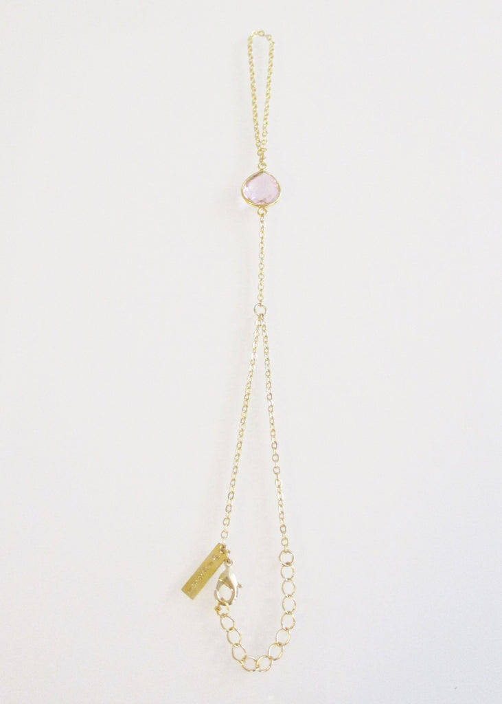 CECELIA HANDCHAIN CLEAR ROSE PINK