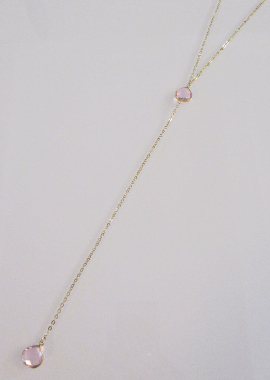 CECELIA Y NECKLACE ROSE PINK