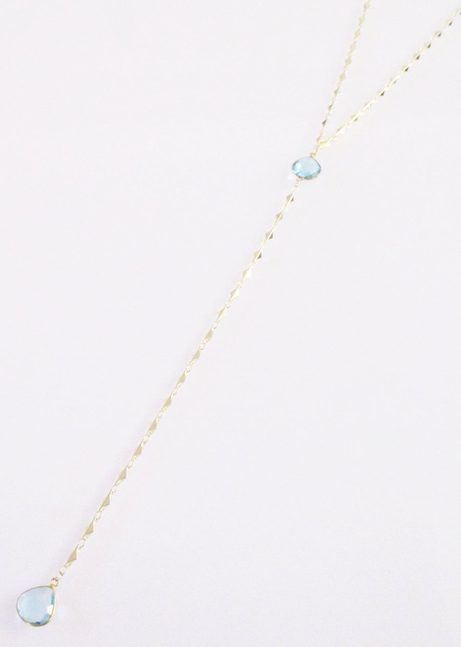 ARIANNA CECELIA Y NECKLACE BLUE TOPAZ