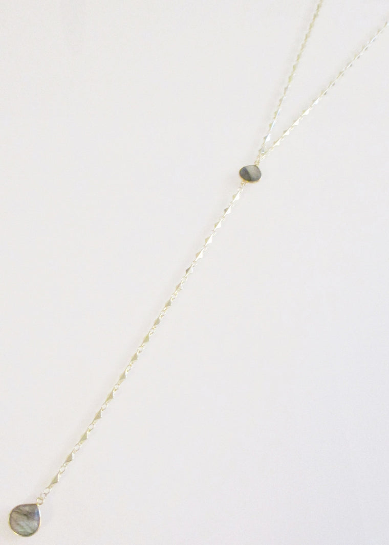 ARIANNA CECELIA Y NECKLACE LABRADORITE (SOLD OUT)