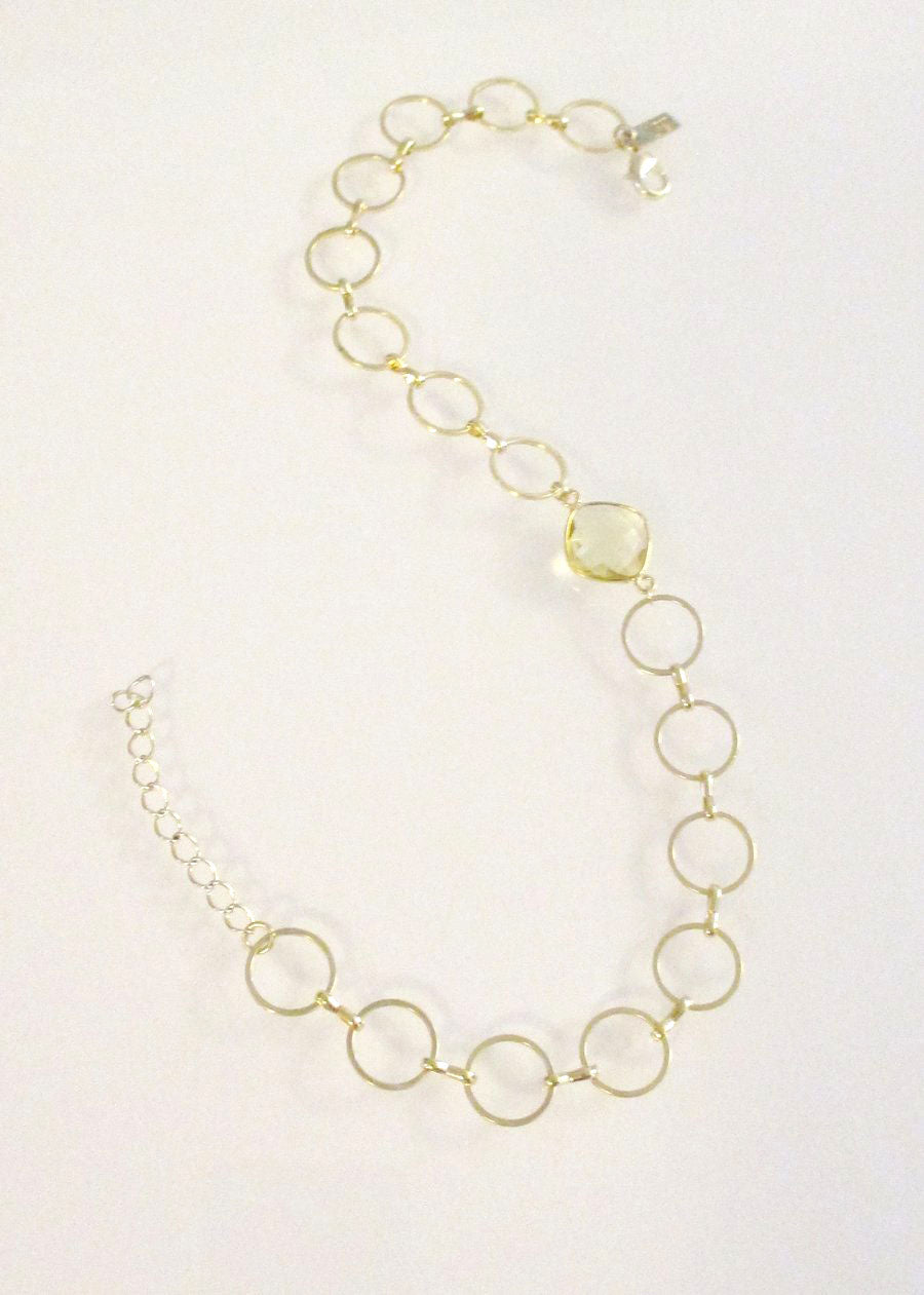 SAMPLE SALE MONTANA CELESTE CHOKER NECKLACE CITRINE LEMON