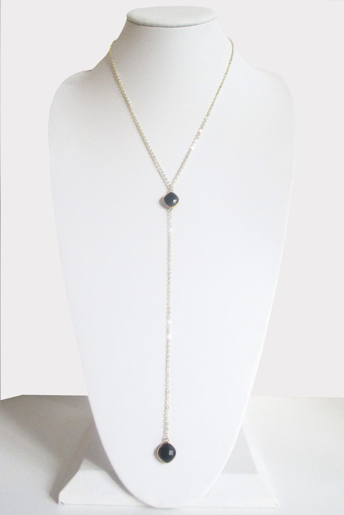 CELESTE Y NECKLACE BLACK ONYX