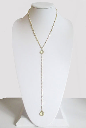 ARIANNA CECELIA Y NECKLACE CITRINE LEMON