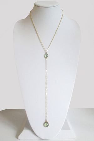 CECELIA Y NECKLACE GREEN AMETHYST