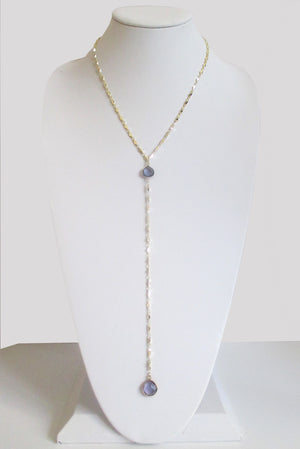 ARIANNA CECELIA Y NECKLACE PURPLE IOLITE