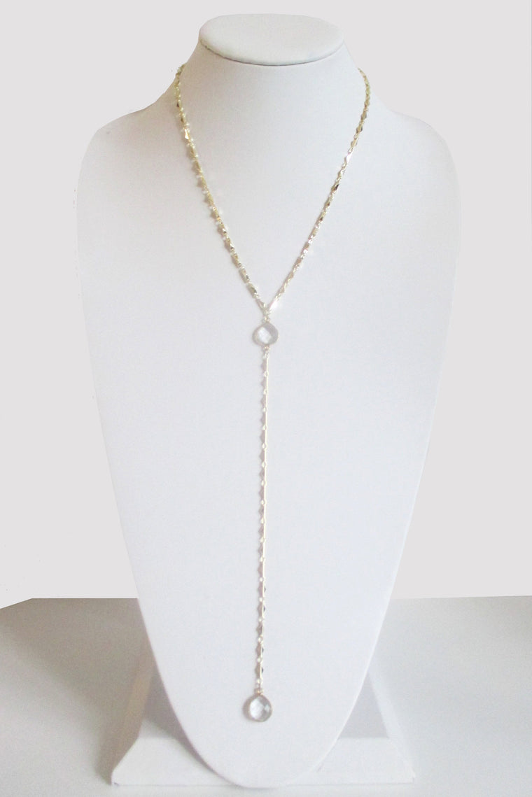 ARIANNA CECELIA Y NECKLACE CLEAR QUARTZ (SOLD OUT)