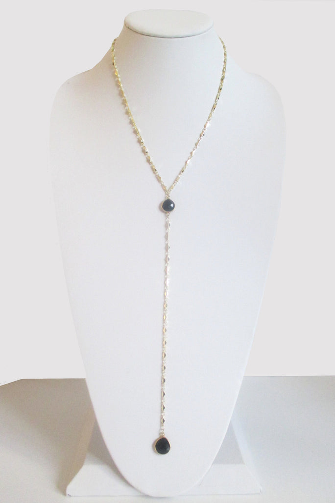 ARIANNA CECELIA Y NECKLACE BLACK ONYX (SOLD OUT)