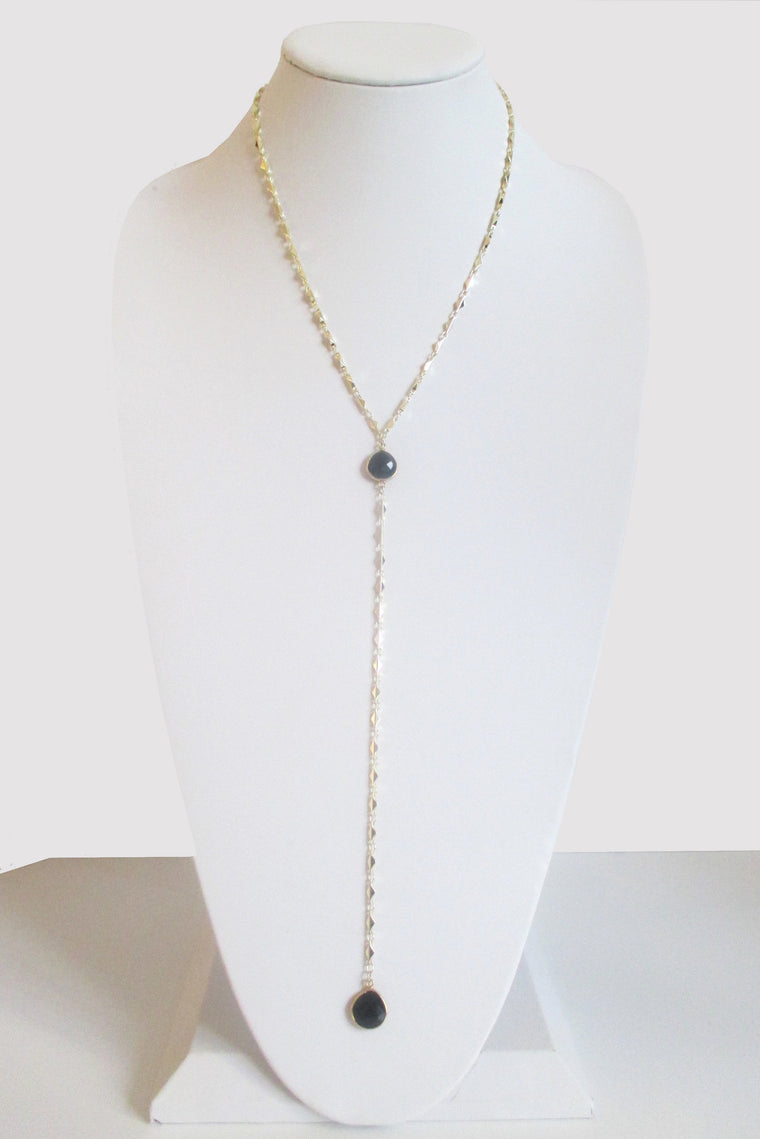 ARIANNA CECELIA Y NECKLACE BLACK ONYX