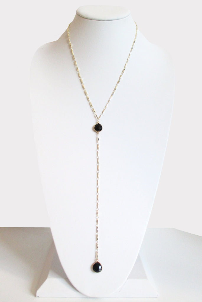 MG ANYA CECELIA Y NECKLACE BLACK ONYX (SOLD OUT)