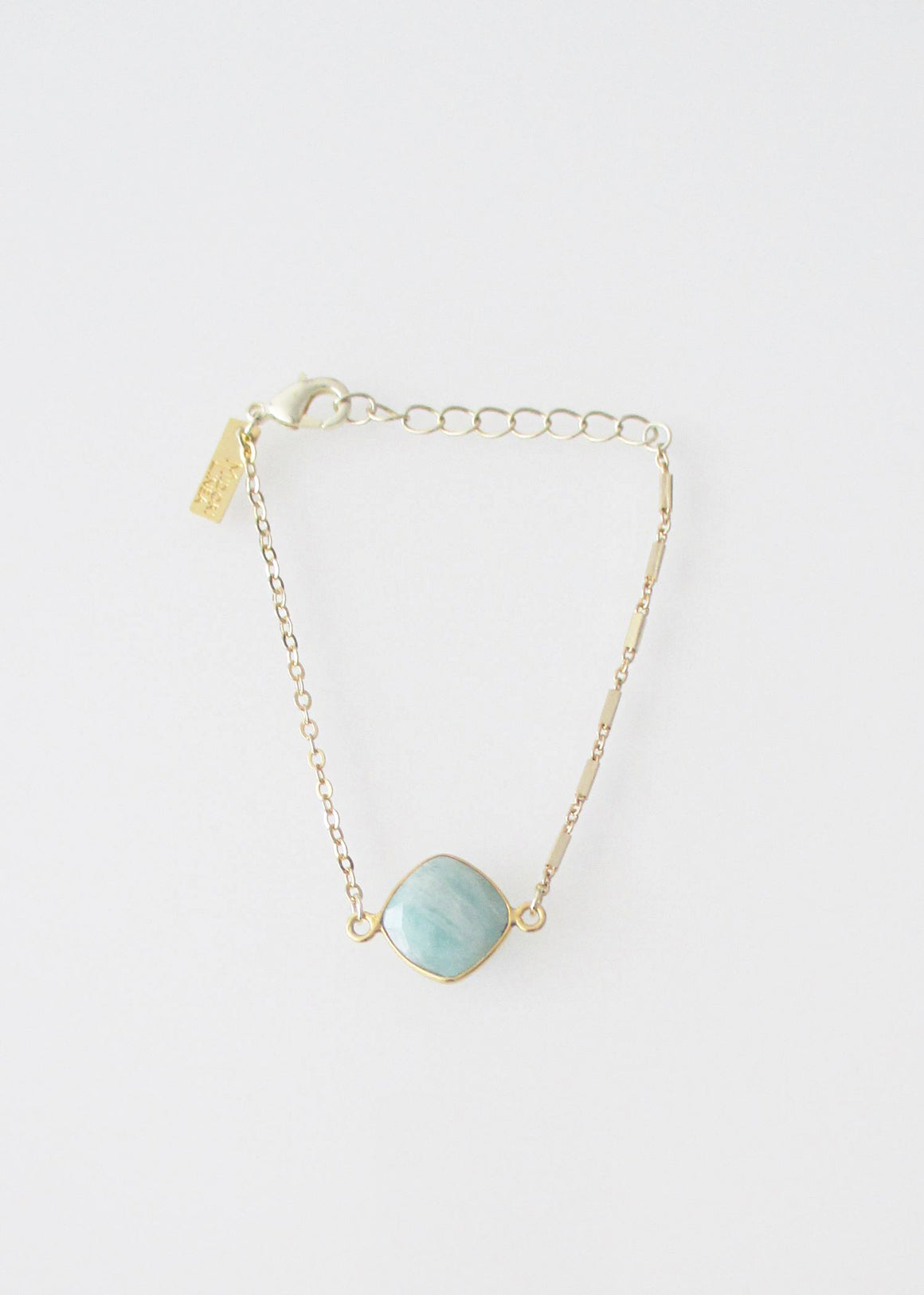 LiVEOUTLOUD MIXED CHAIN CELESTE AMAZONITE