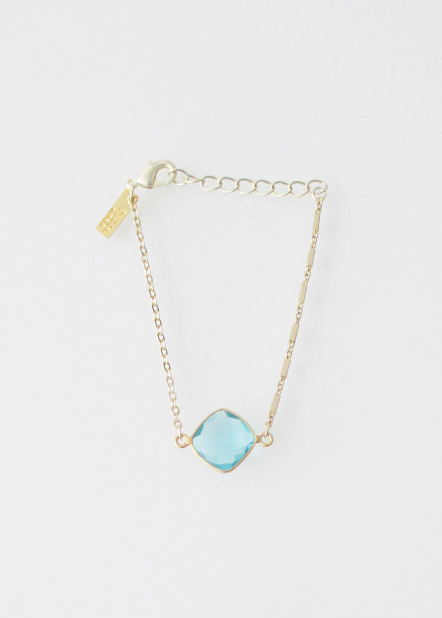 LiVEOUTLOUD MIXED CHAIN CELESTE AQUAMARINE
