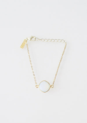 LIVEOUTLOUD MIXED CHAIN WHITE OPAL