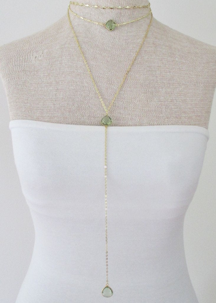 MARTIA CHOKER NECKLACE GREEN AMETHYST