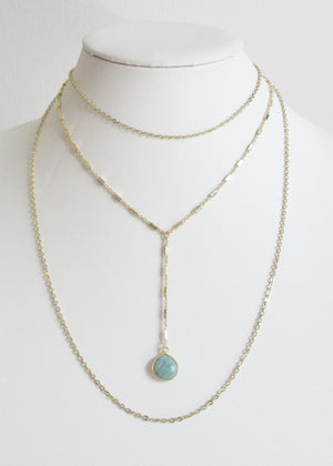 MG TIERED NECKLACE AMAZONITE