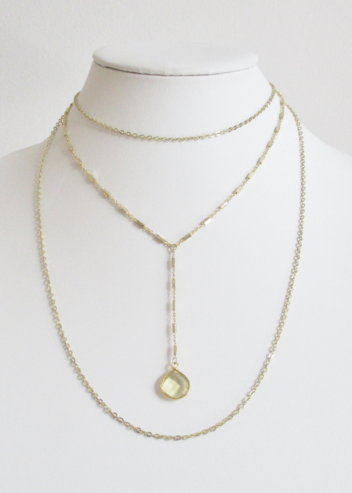 MG TIERED NECKLACE LEMON