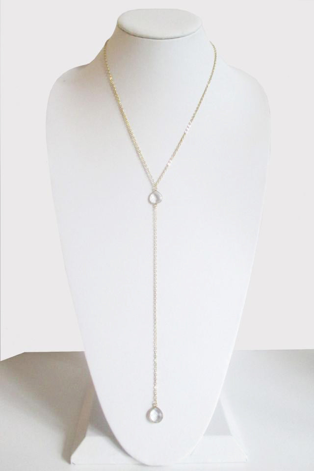 CECELIA Y NECKLACE CLEAR QUARTZ (SOLD OUT)