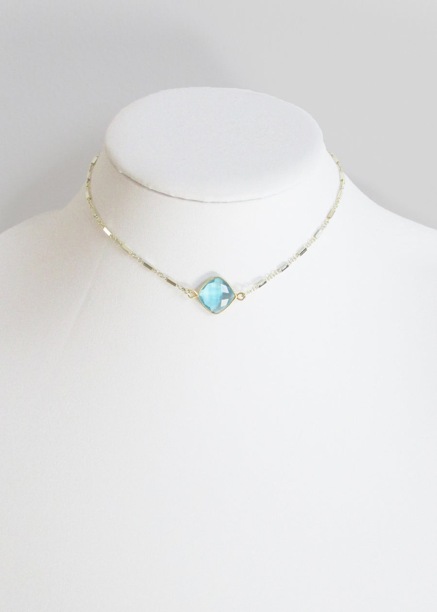 MARTIA CHOKER NECKLACE AQUAMARINE