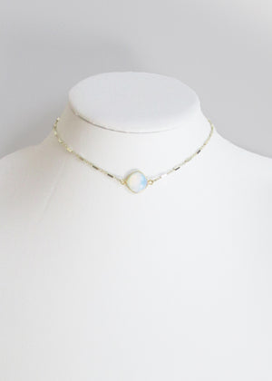 MARTIA CHOKER NECKLACE WHITE OPAL