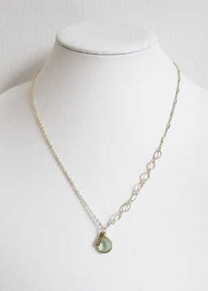 Metallic Ocean Mixed Classic Cable Chain Green Amethyst Rayna