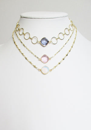 ANYA CELESTE NECKLACE ROSE PINK