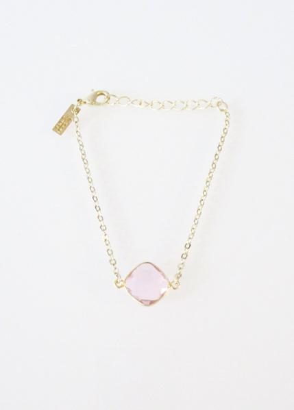 CELESTE BRACELET CLEAR PINK WHOLESALE
