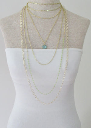 CELESTE Y NECKLACE AQUAMARINE