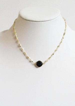 ARIANNA CELESTE NECKLACE BLACK ONYX (SOLD OUT)