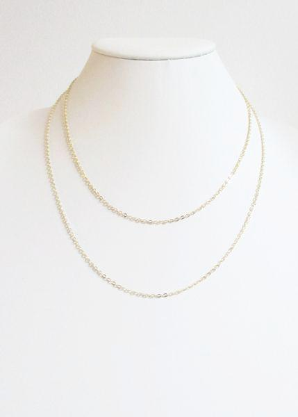 SL CABLE DOUBLE TIERED MID LENGTH NECKLACE