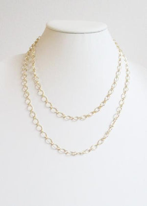 CLASSIC CABLE DOUBLE TIERED MID LENGTH NECKLACE