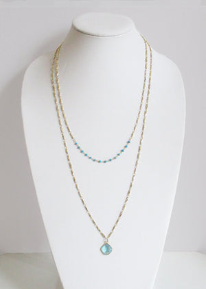 MARNA NECKLACE TURQUOISE & AQUAMARINE